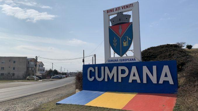 Intrarea în comuna Cumpăna. FOTO Adrian Boioglu