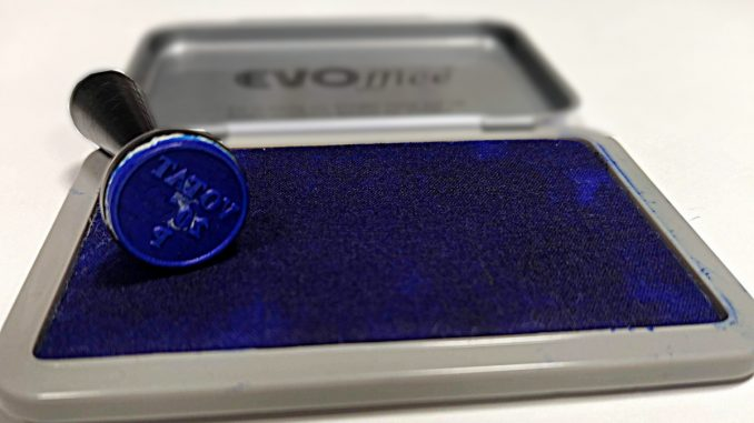 Stampilă de vot. FOTO Cătălin Schipor