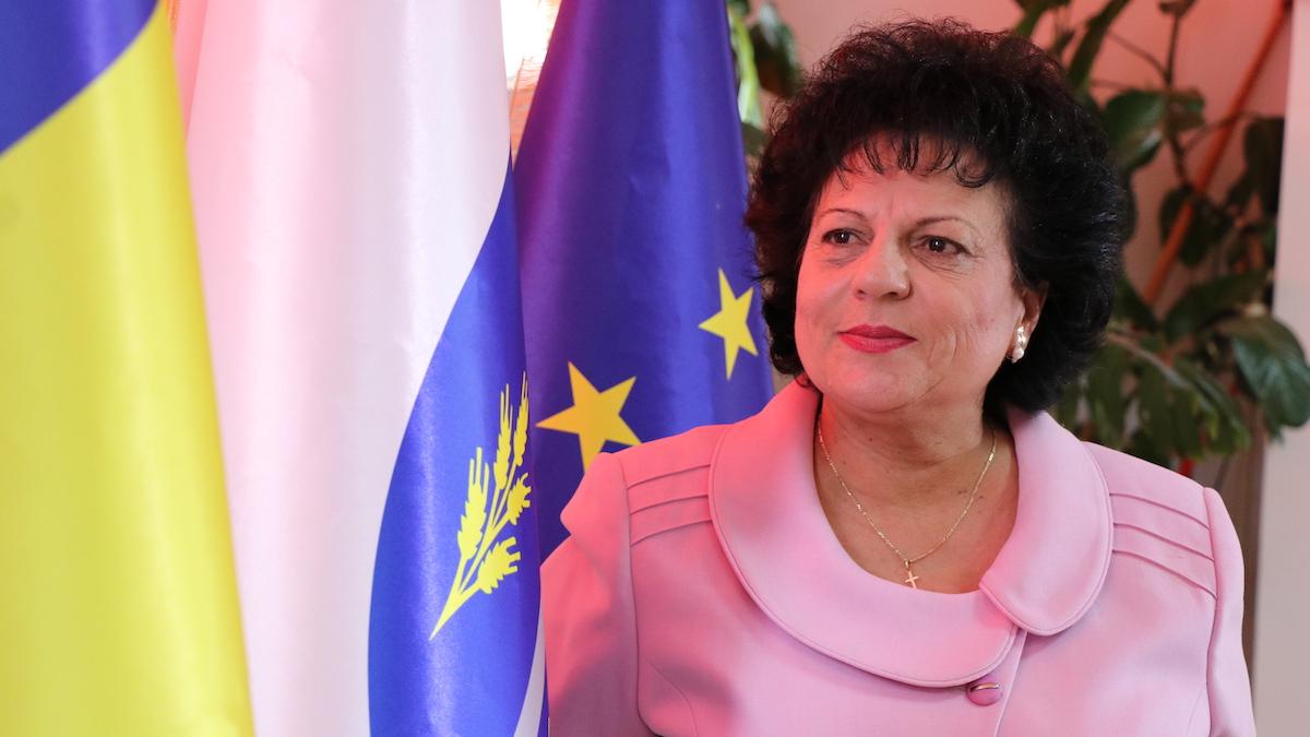 Mariana Gâju, primarul comunei Cumpăna. FOTO Adrian Boioglu / Cumpaneni.ro