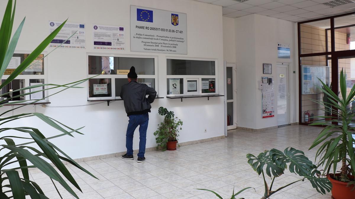 Registratura din cadrul Primăriei Cumpăna. FOTO Adrian Boioglu / Cumpaneni.ro