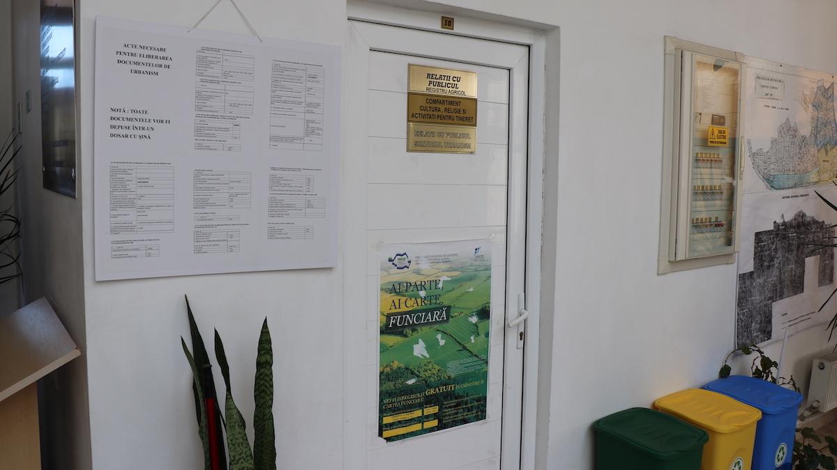 Bireul de Relații cu Publicul din Primăria Cumpăna. FOTO Adrian Boioglu / Cumpaneni.ro