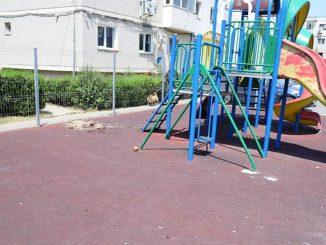 Loc de joacă pentru copii, distracția vandalilor din Cumpăna, FOTO Primăria Cumpăna