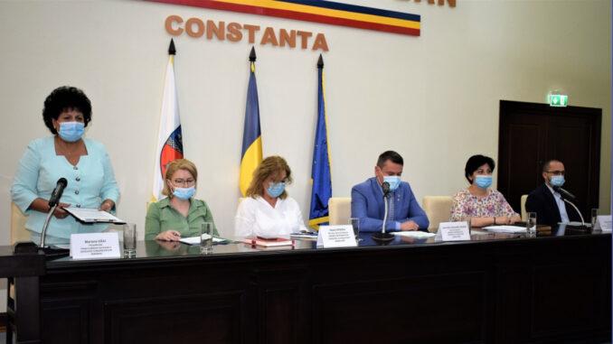 Primarul Mariana Gâju a avut o întâlnire de lucru la Prefectura Constanța, FOTO Primăria Cumpăna