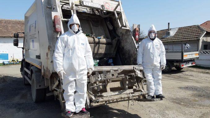 Mașnă de colectare a deșeurilor la Cumpăna. FOTO Salubrizare Cumpăna